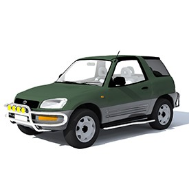 Toyota RAV4 1994 Coupe 3D Object | FREE Artlantis Objects Download